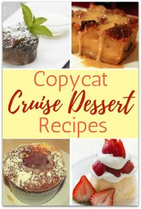 20 Amazing Desserts from Our Favorite Cruise Lines
