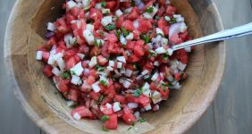 Delicious Watermelon Jicama Salsa from Carnival