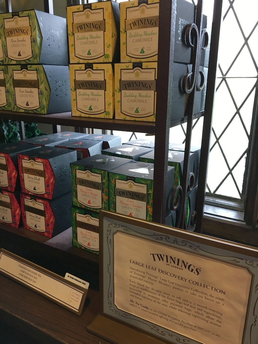 The Twinings Royal Tea Tour at Epcot is a must if you love tea! You'll learn all about plants Twinings uses, and even get a sampling of tea and scones!