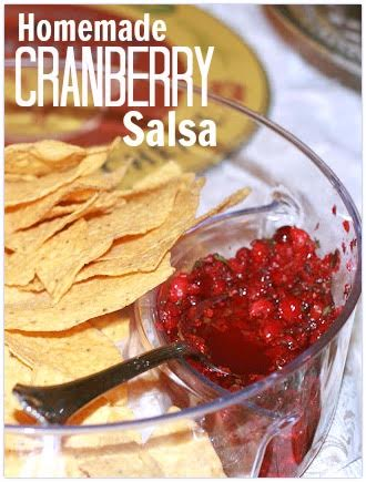 Salsa with chips.
