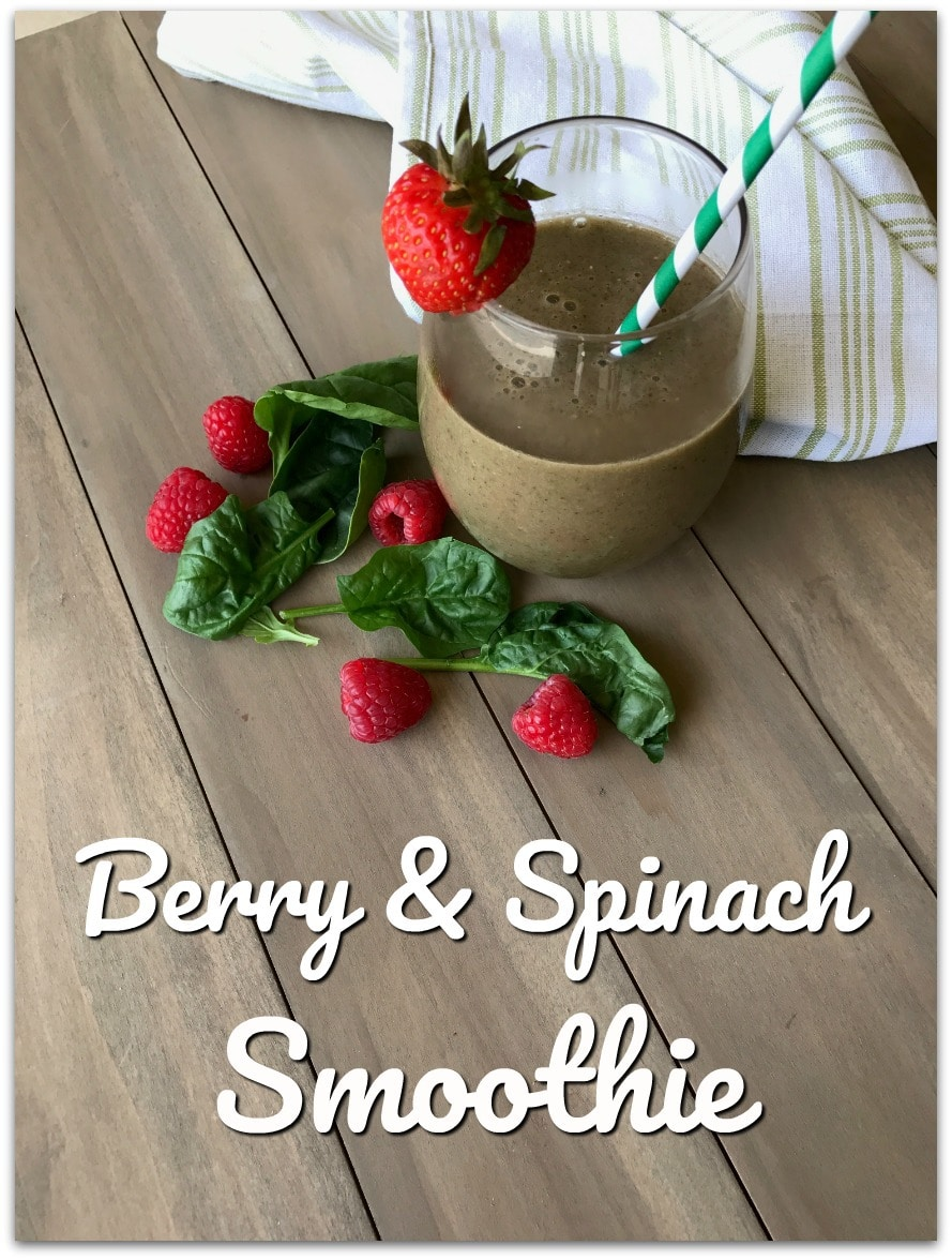 This Berry and Spinach Smoothie is SO good! Who knew something so delicious could be good for you, too?