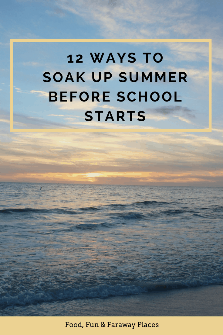 With summer coming to a close, many families are looking for fun activities to do before school starts. Many families have their summer vacations behind themand are looking for a few ways to enjoy what time is left before kids go back to school.