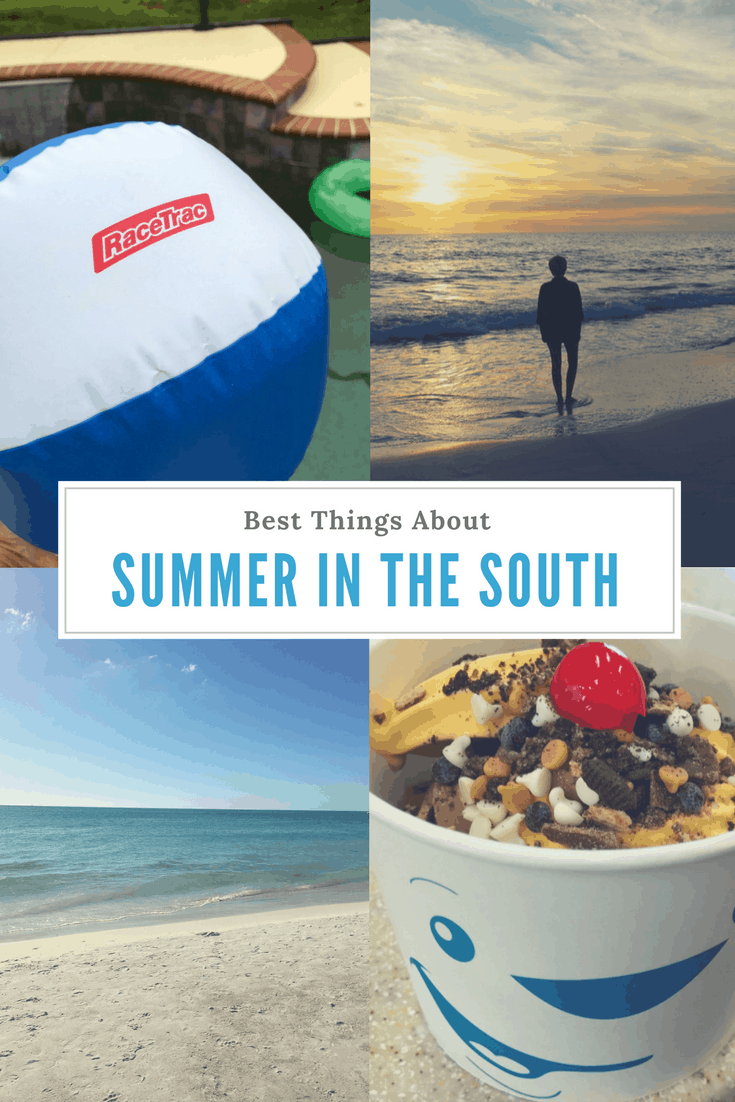 I love summer in the south! The weather may be hot, but there are so many ways to cool off, and it's so worth it when so much of the country is freezing.