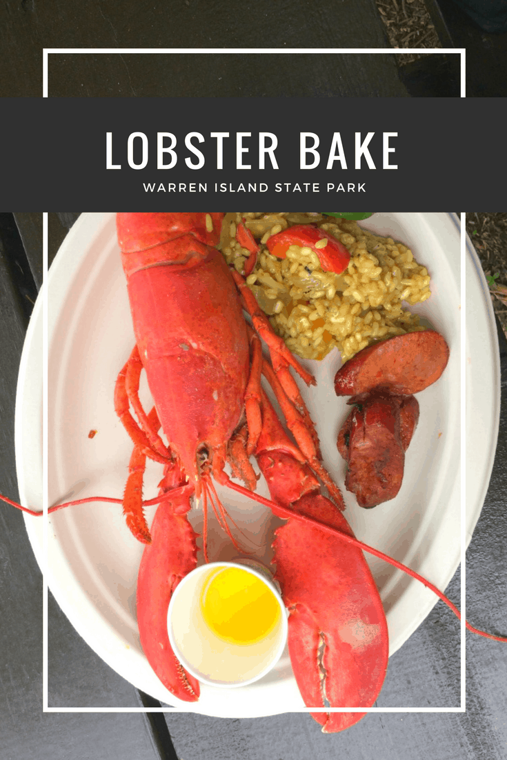 A couple of months ago, while sailing on the J & E Riggin, we spent the afternoon watching the crew create a lobster bake on Warren Island, and then enjoyed the bounty.