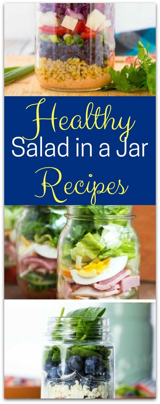 Have you made salad in a jar? I could eat salad every day, but I get busy and it's easier to grab something quick, like a sandwich.
