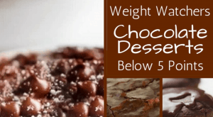 decadent Weight Watchers chocolate desserts