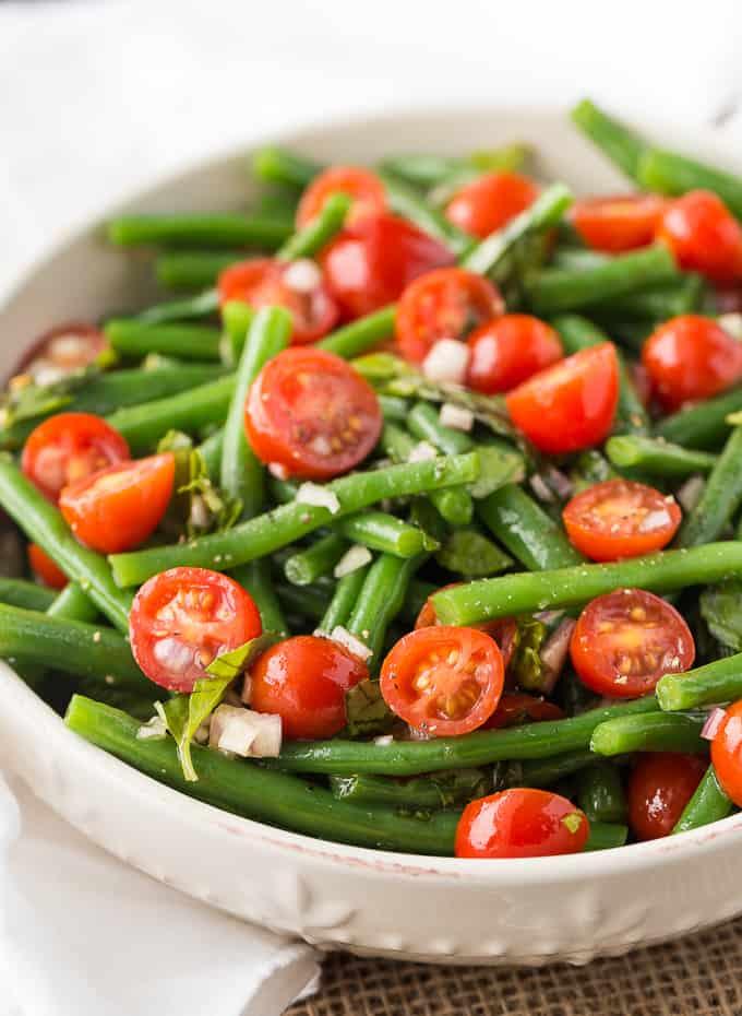 green bean and tomato salad