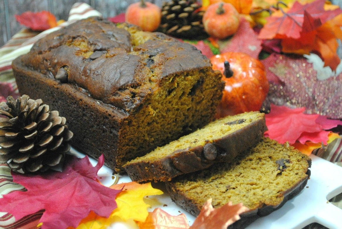 Pumpkin Banana Chocolate Chip Bread - Food Fun & Faraway Places