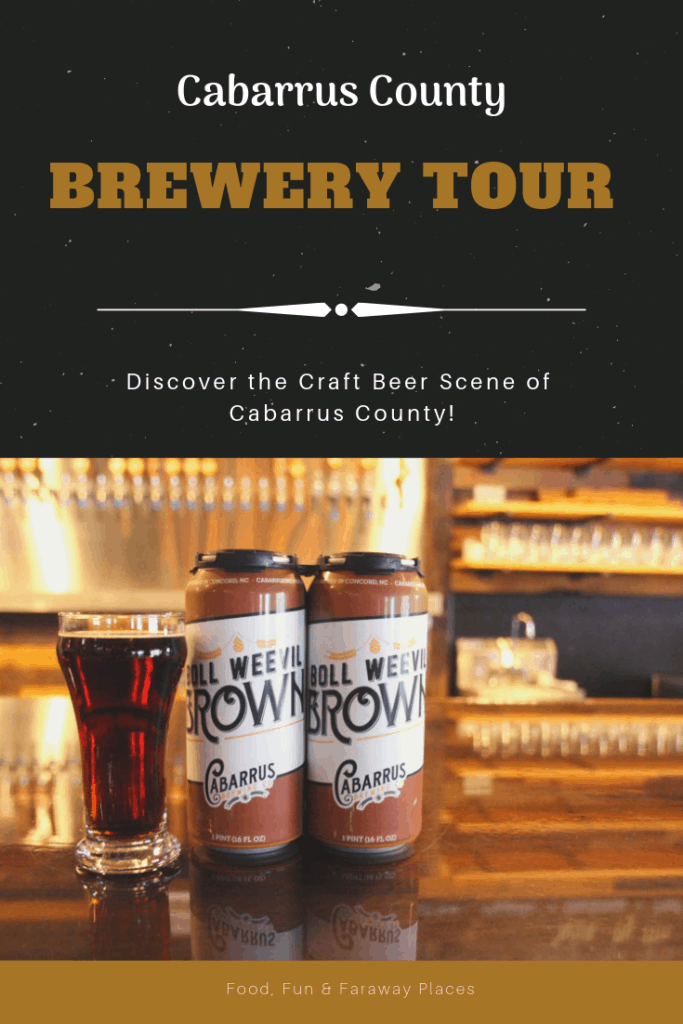 This Cabarrus County brewery tour itinerary gives you a fun and tasty activity for an afternoon or evening in Cabarrus County, North Carolina. #Brewerytour #CabarrusCountyBreweries #CabarrusCounty