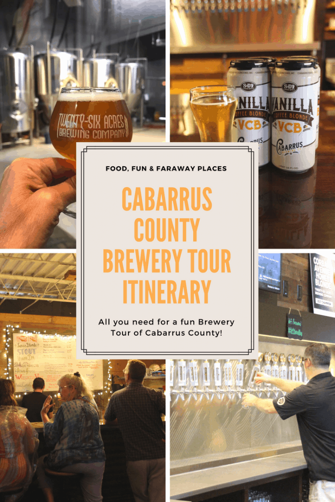 This Cabarrus County brewery tour itinerary gives you a fun and tasty activity for an afternoon or evening in Cabarrus County, North Carolina.