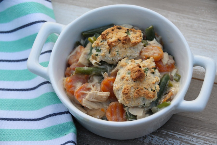What could be better than chicken pot pie at the end of a long day? Many of us stay away from comfort foods because they are full of butter, cream, and other fats.