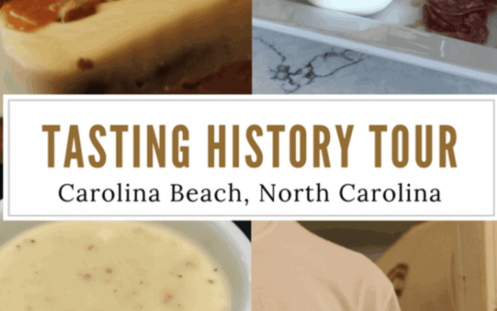 Last month when I spent some time in the Wilmington Beaches area, I was invited to experience the Carolina Beach Tasting History Tour. If you're a foodie like me, this is the perfect activity for an afternoon in Carolina Beach.