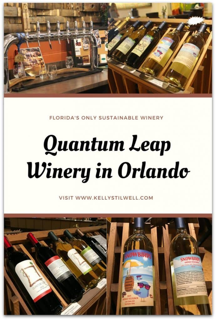 Last month I visited Quantum Leap Winery Orlando for a tour and tasting on my way to spend a few days in Winter Park. It's Florida's only sustainable winery.