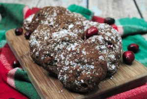 Gingerbread and cranberries with chocolate chips is not a pairing I would have thought to put together, but these fall flavors meld into something wonderful. I think once you try this, it will become your new favorite cookies recipe.