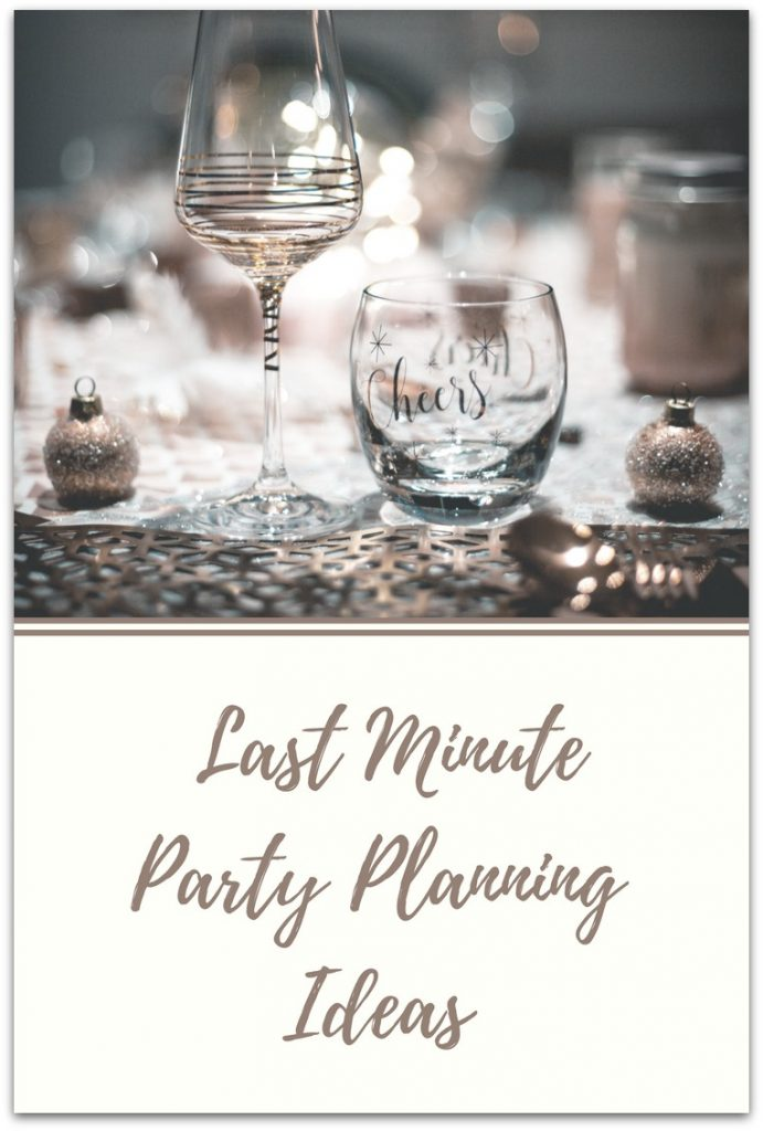 I'm the queen of last minute party planning. Being busy and traveling a lot makes it hard to plan something at home.