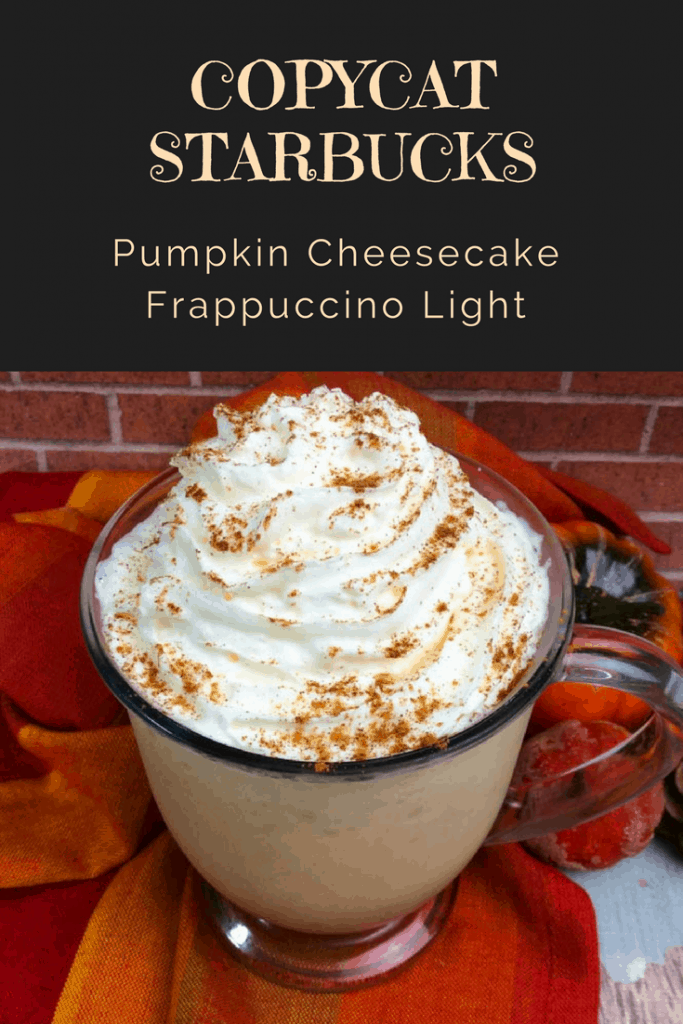 This Copycat Starbucks Pumpkin Cheesecake Frappuccino recipe is SO easy to make, you'll wonder why you never tried to figure it out before!