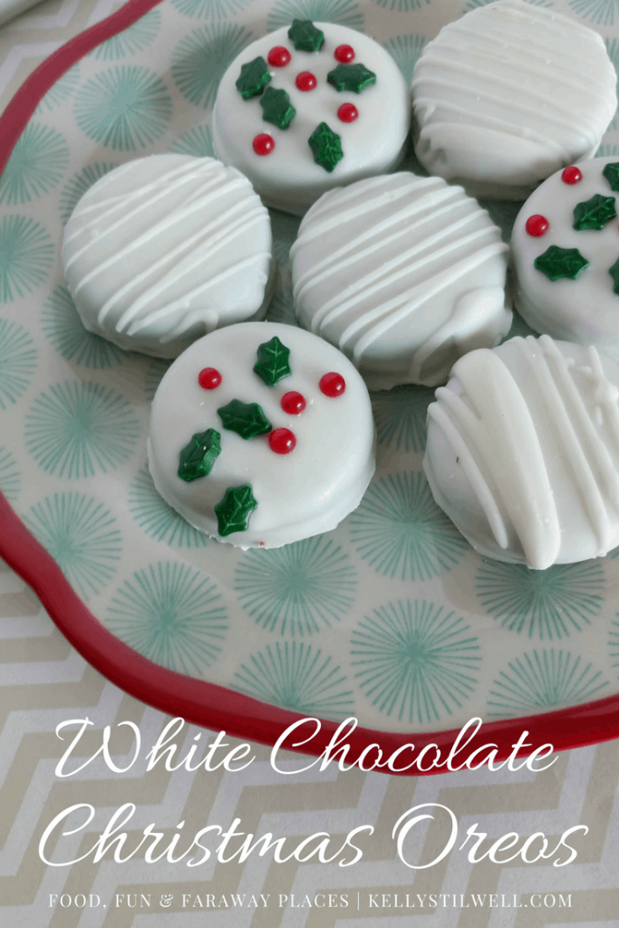 Believe me when I say once you've had White Chocolate Covered Oreos you won't ever want to have regular Oreos again. These are SUPER easy and quick to make! #ChristmasCookies #ChristmasDesserts #ChristmasRecipes