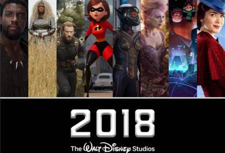 2018 Walt DisneyStudios Release Schedule