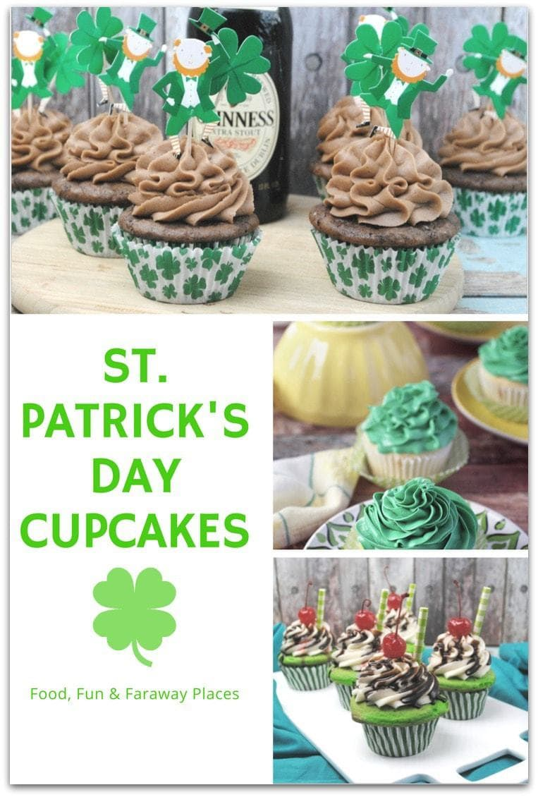 Cupcakes are always the best dessert for parties and these St. Patrick's Day cupcakes are the perfect ending to any St. Patrick's Day party. After all, the original title was Feast of St. Patrick's Day, and no feast is complete without dessert!