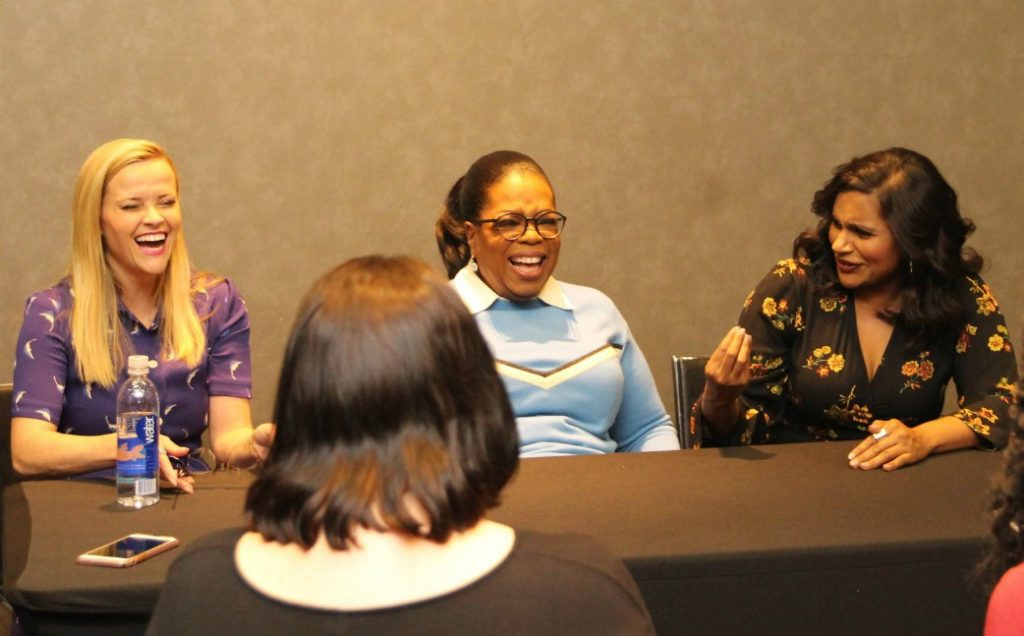 Now that my A Wrinkle In Time interviews with Oprah, Reese and Mindy are behind me, I am floored that they were all three so down to earth. (Pun intended!)