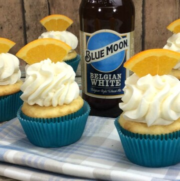 Could we make a Blue Moon Cupcake? YES!