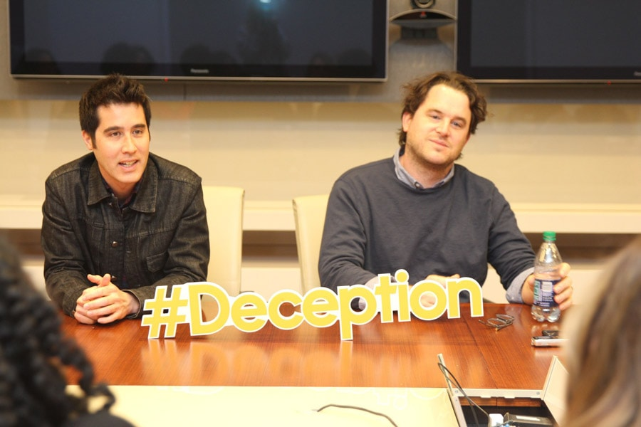 Chatting with Chris Fedak, Creator and Executive Producer ofthe new Deception TV show on ABC was pretty cool, but watching Co-Producer David Kwong show us how the magic really happens was absolutely fascinating.