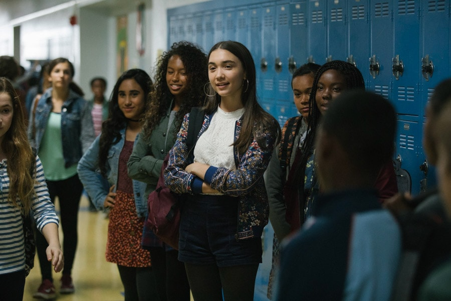 Rowan Blanchard plays Veronica Kiley in Disney's A Wrinkle In Time movie.