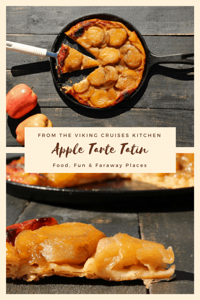 This Apple Tarte Tatin from Viking Cruises makes a beautiful presentation and tastes and delicious. Originally created at the Hotel Tatin in Lamotte-Beuvron, France, think of a dreamy extra caramelized apple pie.