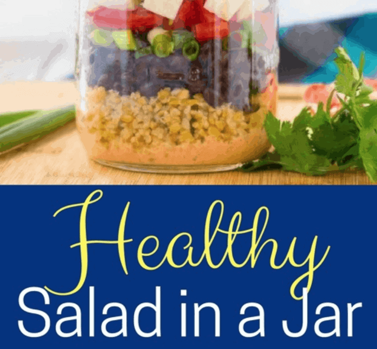Salads in a jar are the perfect salads to go, and they are so easy to prepare. I could eat salad every day, but I get busy and it's easier to grab something quick, like a sandwich. This is often a poor choicefor me