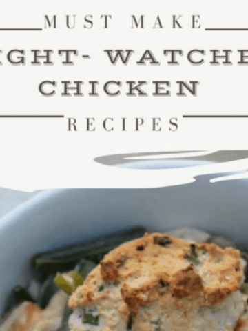 Once you try these Chicken Weight Watchers recipes, you are going to want to add them to your monthly rotation. I think we could eat a few of these dishes two or three times a month!