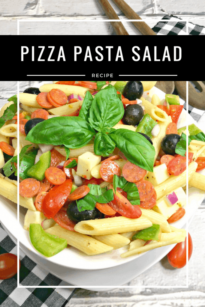 What's better than pizza and pasta? Combining them to make a delicious pizza and pasta salad! What makes this recipe even better? It's a healthier version, even fitting into the Weight Watchers points program and coming in at 3 Smart Points per serving!