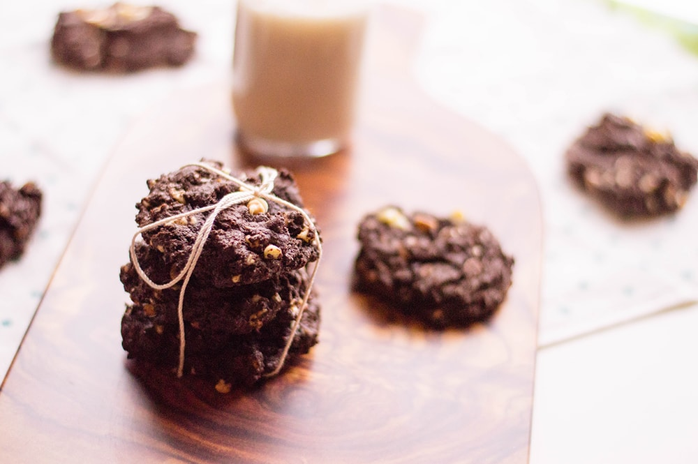 Double Chocolate Chip Cookies are the best cookies on the planet if you love chocolate. A chocolate cookie with chocolate chips is the thing dessert dreams are made of.