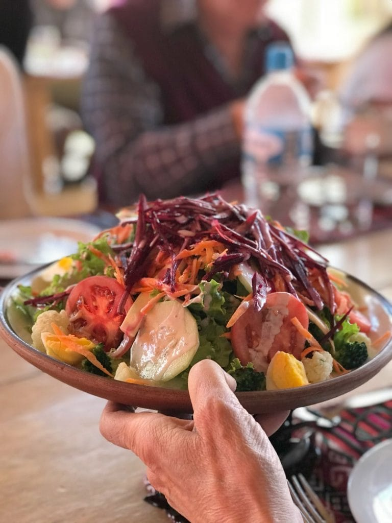 The traditional Peruvian Meal at Parwa Community Restaurant in Sacred Valley Peru was one of my favorite experiences on the G Adventures Tour of Peru.