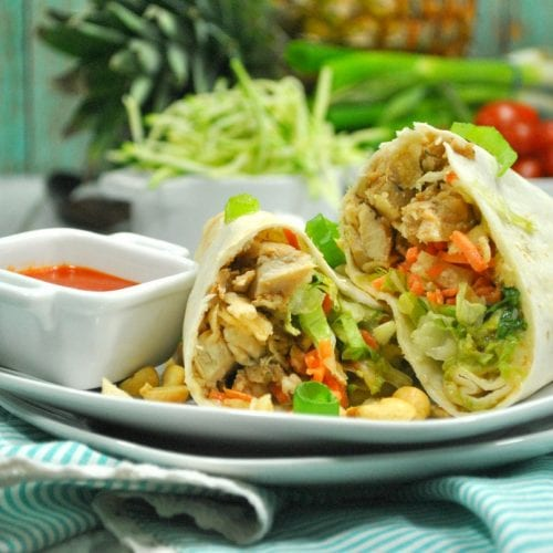 You are going to fall head over heels for this newWeight Watchers Thai Chicken Wrap recipe!