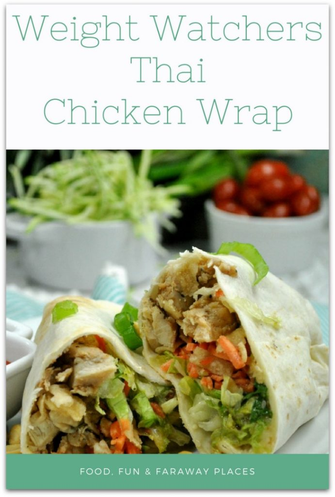 You are going to fall head over heels for this new Weight Watchers Thai Chicken Wrap recipe! #ChickenRecipe #WeightWatchers #weightwatchersmeals