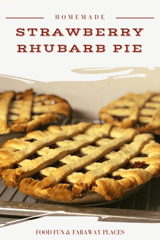 Have you ever tasted fresh strawberry rhubarb pie? It's not too difficult to make and just bursts with flavor. I'm betting this will be on your list of regular dessert recipes. #RhubarbPie #PieRecipe #DessertRecipe