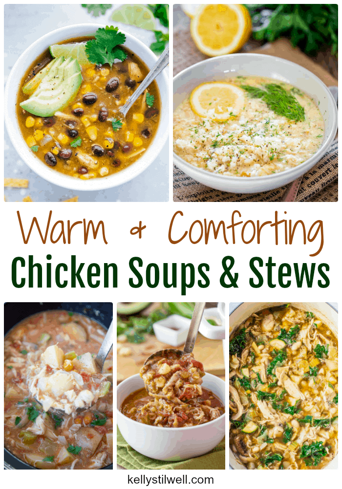 When the weather starts getting crisp, it's time to pull out those recipes for chicken soups and stews. Do you find yourself searching for those recipes your family loved last year? Me, too! This is why I thought I'd pull together a few of my favorite recipes for chicken soups and stews.