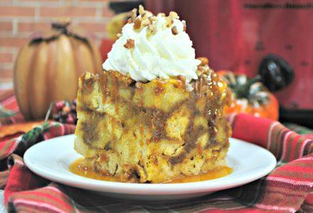Pumpkin Maple Crockpot French Toast