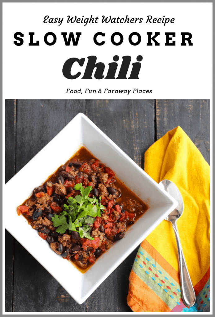 This Weight Watchers Slow Cooker chili is a perfect addition to your fix it and forget it recipe collection! Don't you love the feeling of putting everything in that slow cooker and letting it do the work for you?