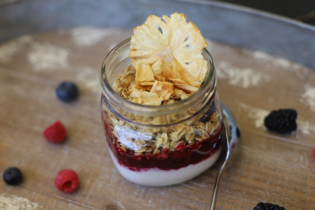 This fruit parfait recipe is going to knock your socks off! It's the absolute best parfait I have ever had.