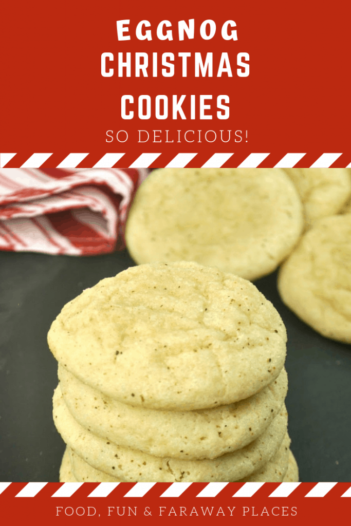 These eggnog cookies are so good! I've heard it said that you either hate eggnog or you love it. Which side are you on? Just wait until you taste these! #eggnog #Christmascookies #eggnogcookies