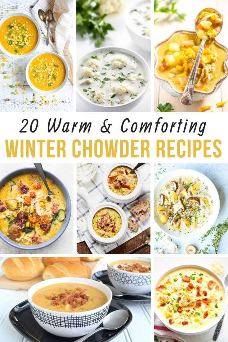 These hearty soup recipes will make your life easier and your family happy on a cold winter night. What could be more comforting than a bowl of soup? #Souprecipes #ChowderRecipes #Soup