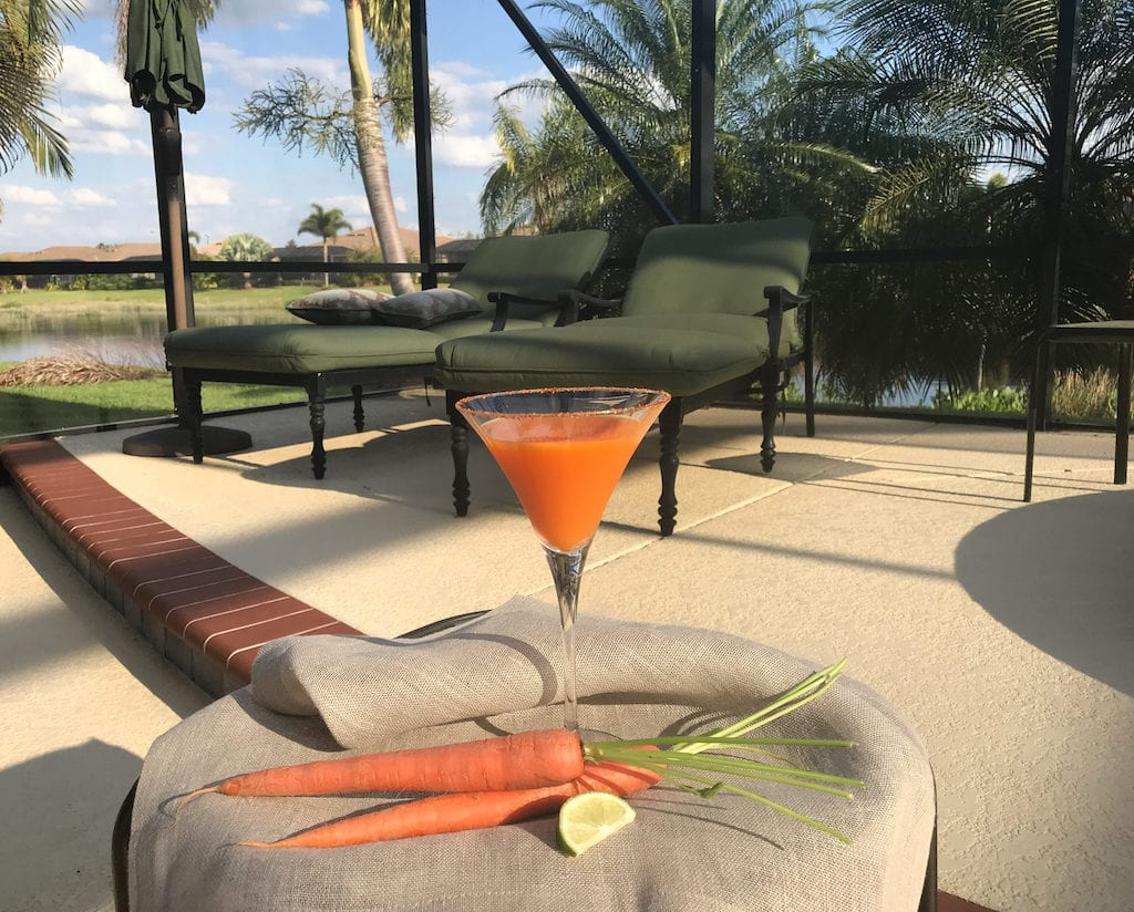 I can't imagine a better way to watch that big orange ball slide below the horizon than with a Martini Sunset Cocktail in hand.