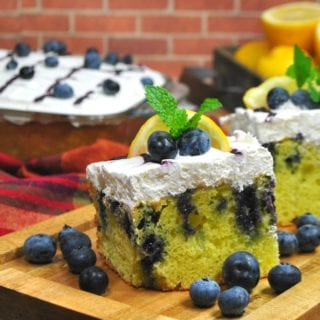 I'm not sure what it is about lemon poke cake with blueberries that just pairs so perfectly, but it truly is a match made in heaven.