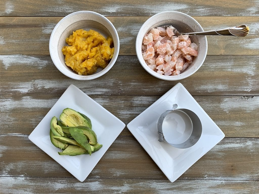 Shrimp causa ingredients