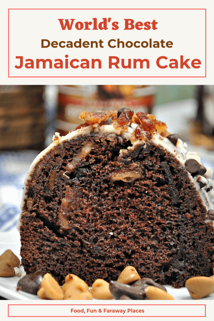 This decadent Chocolate Jamaican Rum Cake is so easy to make, the the rum gives it a kick and makes the texture so moist. Take this to a party and be a huge hit!