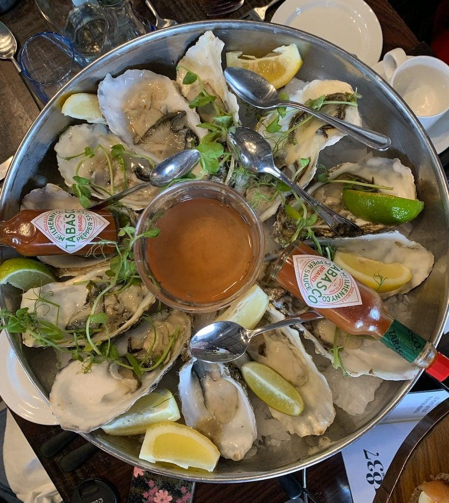Guinness draught is best enjoyed at Guinness Storehouse, its Dublin home. Explore the history and flavor of Guinness draught at this iconic Dublin brewery, preferably with these oysters!