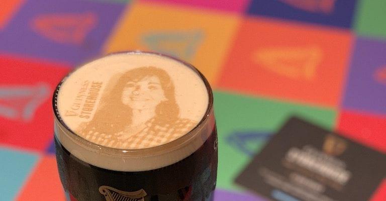 Tasting Guinness Draught at Guinness Storehouse