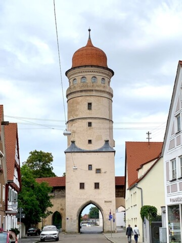 Nördlingen Germany is a walled city along the Romantic Road. The Daniel Tower is a must when visiting this beautiful city.