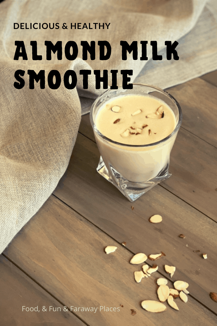 This almond milk smoothie is so decadent, yet it only has three ingredients! It's filling and perfect for breakfast!